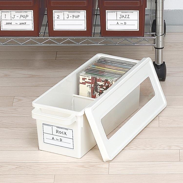CD收納盒 日本進口家用dvd碟片cd盒子光盤收納盒箱塑料專輯游戲碟儲存盒架