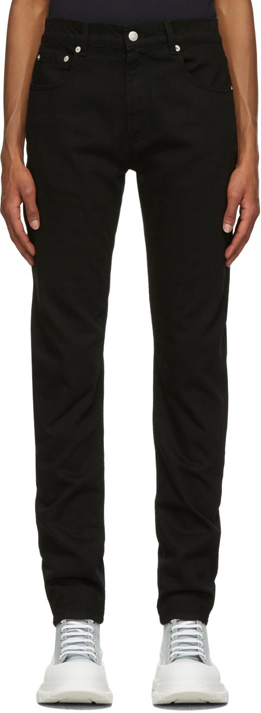 Alexander McQueen 黑色 Top Stitch 牛仔裤