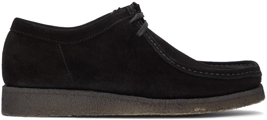 Padmore & Barnes 黑色 Original P204 绒面革莫卡辛鞋