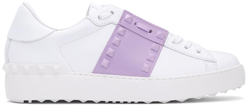 Valentino Garavani 白色 Valentino Garavani Rockstud Open 运动鞋