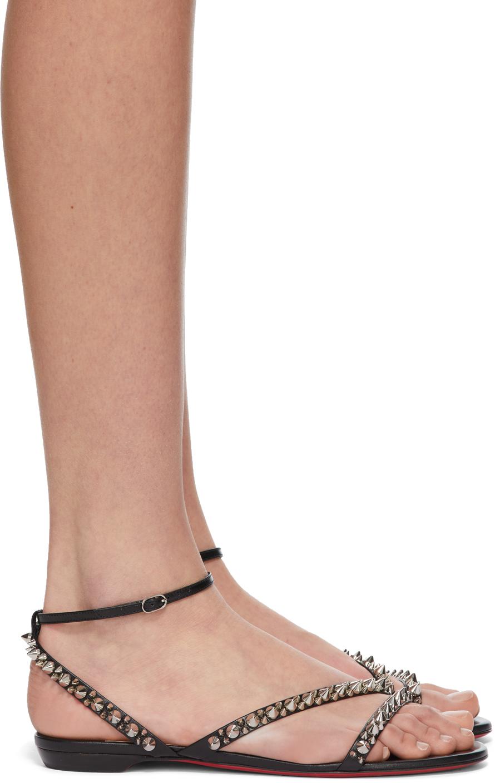 Christian Louboutin 黑色 Mafaldina Spikes 凉鞋