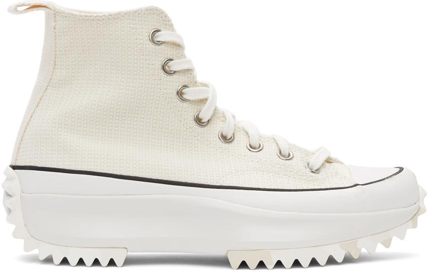 Converse 灰白色 Marble Run Star Hike 高帮运动鞋