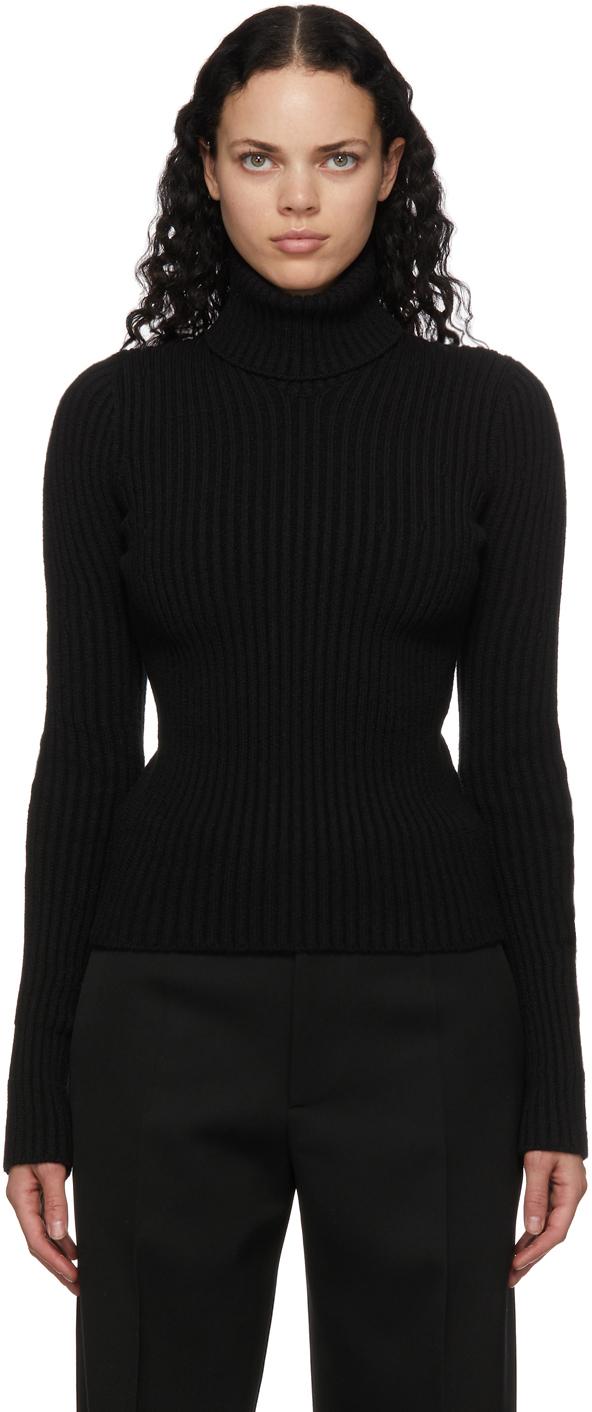 Bottega Veneta 黑色 Distorted 高领毛衣