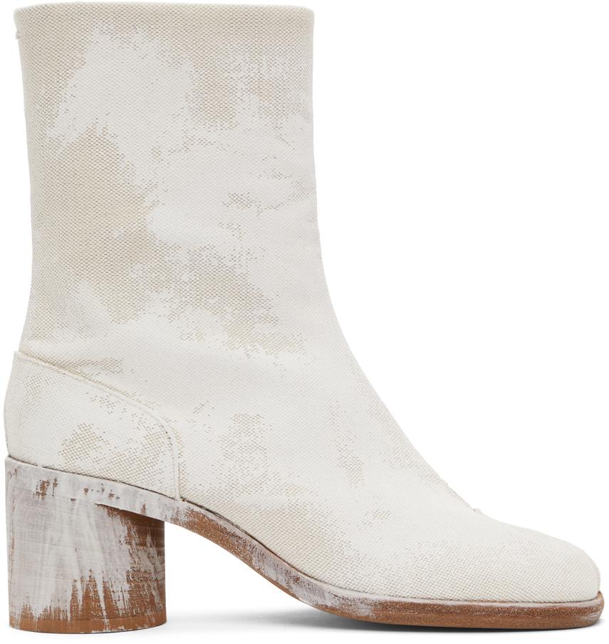 Maison Margiela 灰白色 Tabi Bianchetto 踝靴