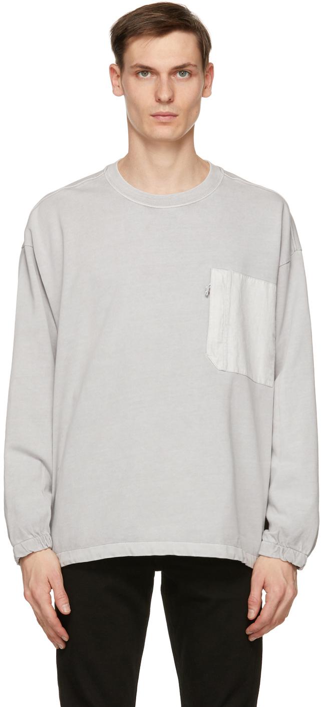 Levi's 灰色 Utility Pocket 长袖 T 恤
