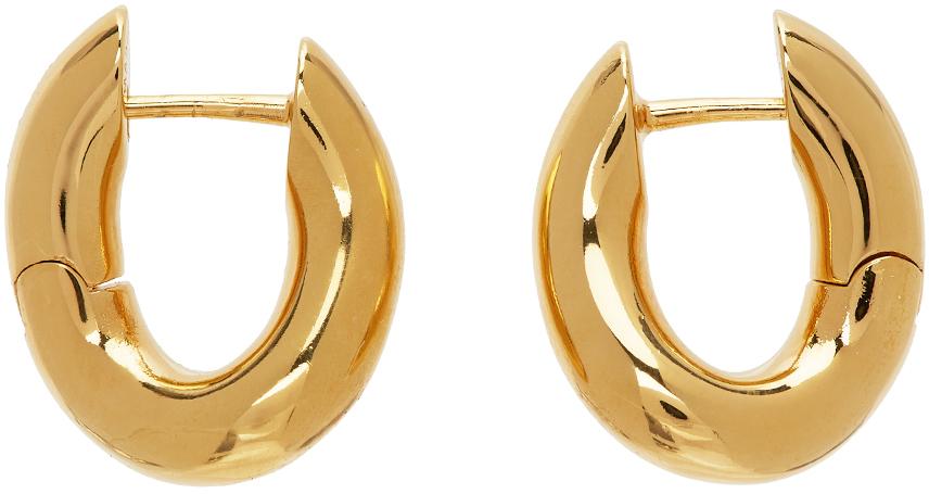 Balenciaga 金色 Loop 耳环