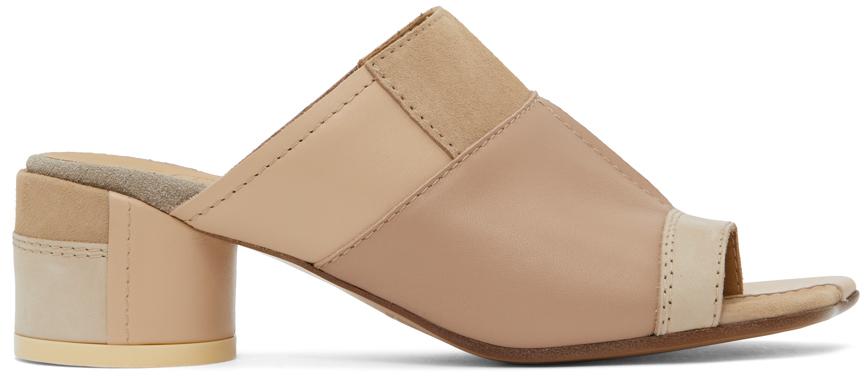 MM6 Maison Margiela 多色 Patchwork 穆勒鞋