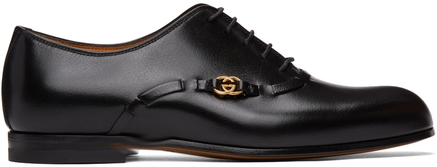 Gucci 黑色 Quentin 德比鞋