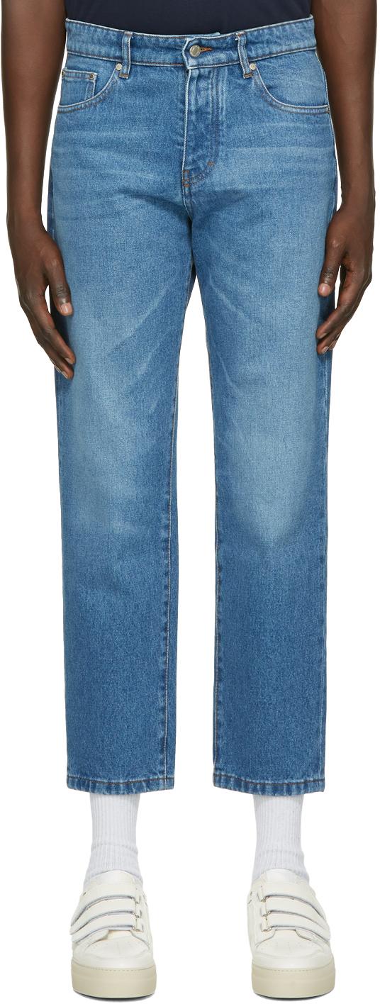 AMI Alexandre Mattiussi 蓝色锥形牛仔裤