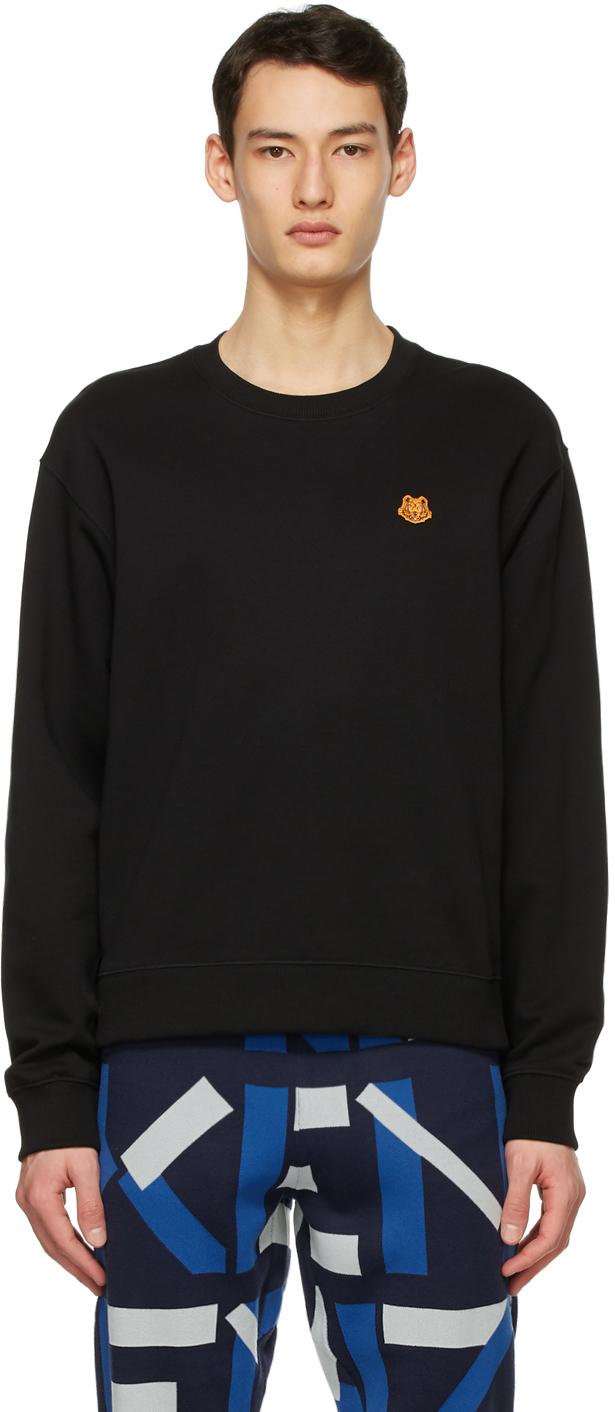 Kenzo 黑色 Tiger Crest 套头衫