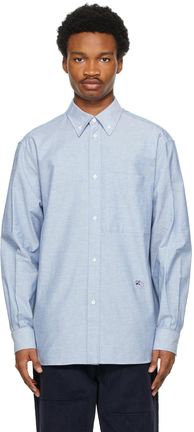 Loewe 蓝色牛津纺衬衫
