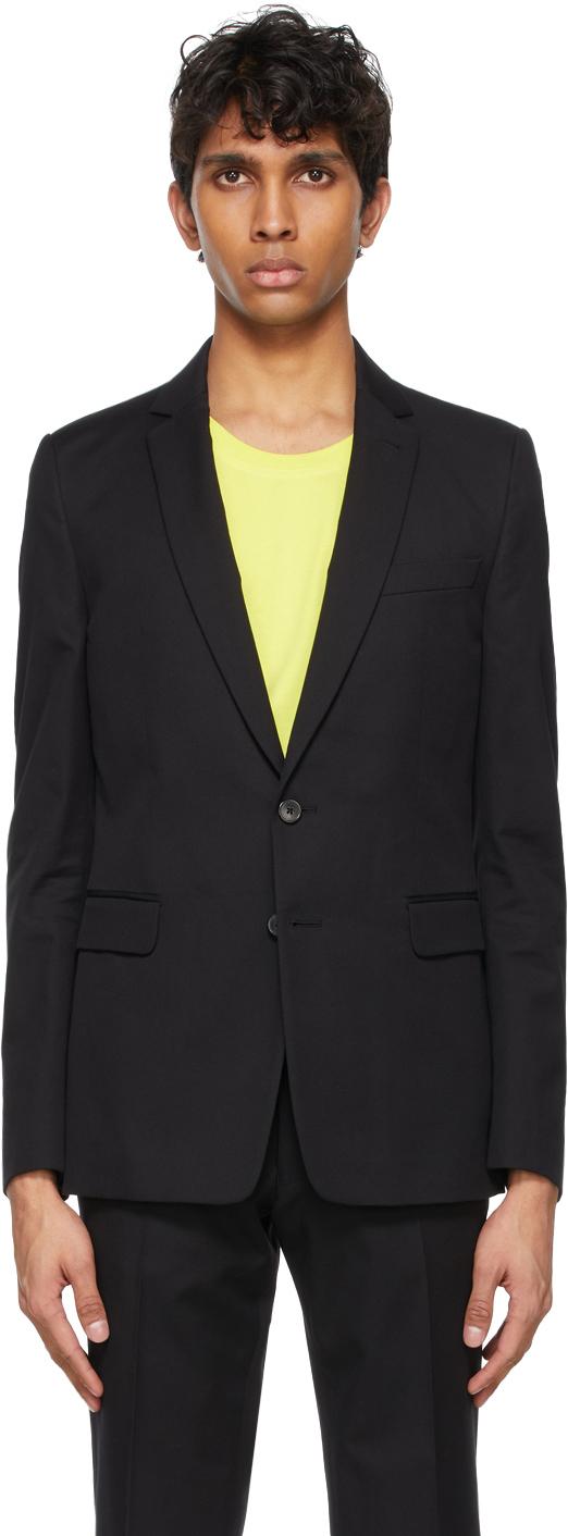 Dries Van Noten 黑色斜纹西服套装