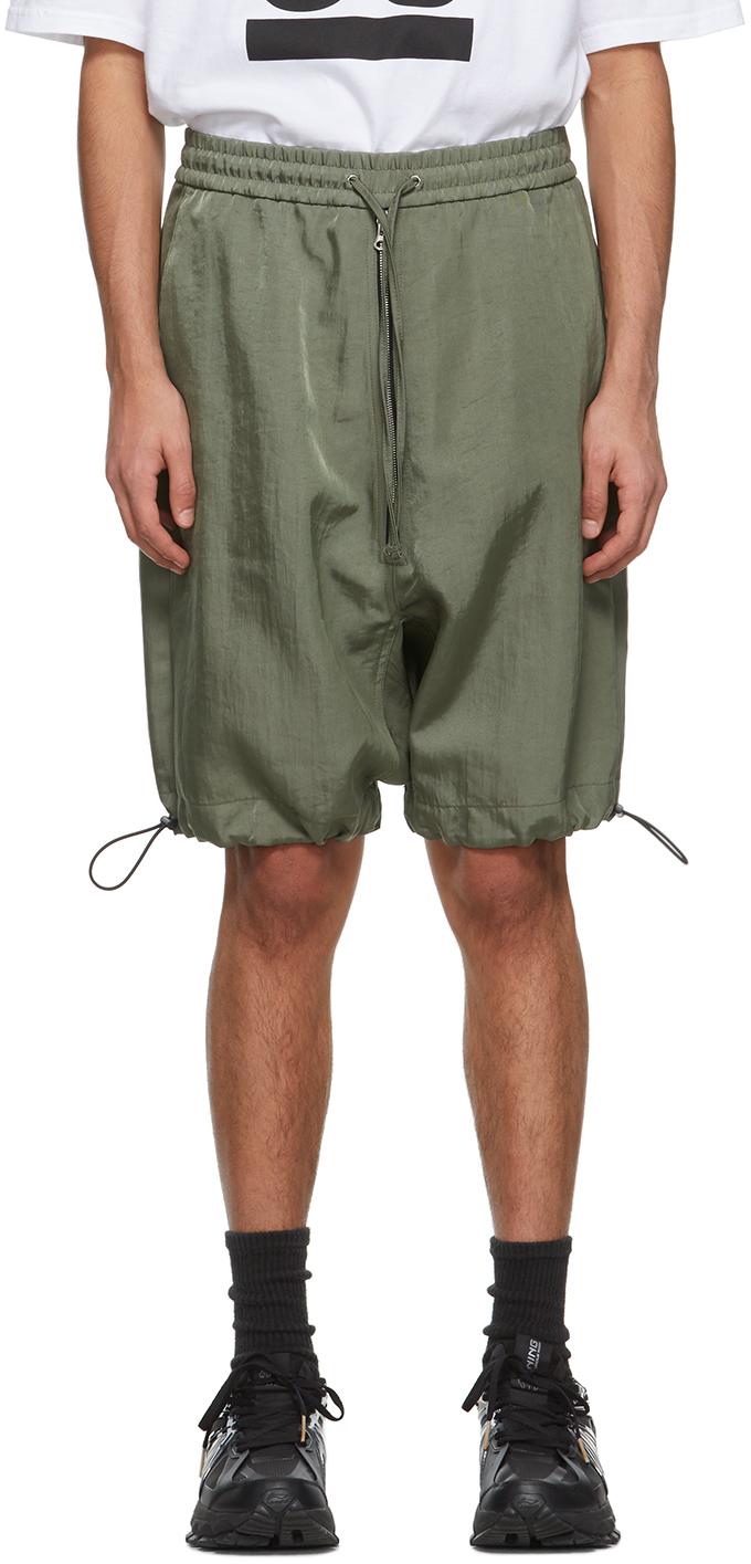 JERIH 军绿色抽绳短裤