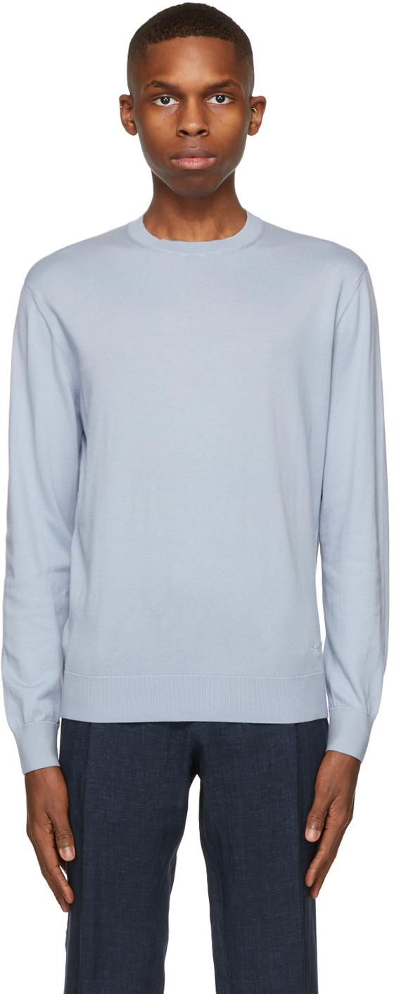 Ermenegildo Zegna 蓝色 Premium Cotton 针织衫