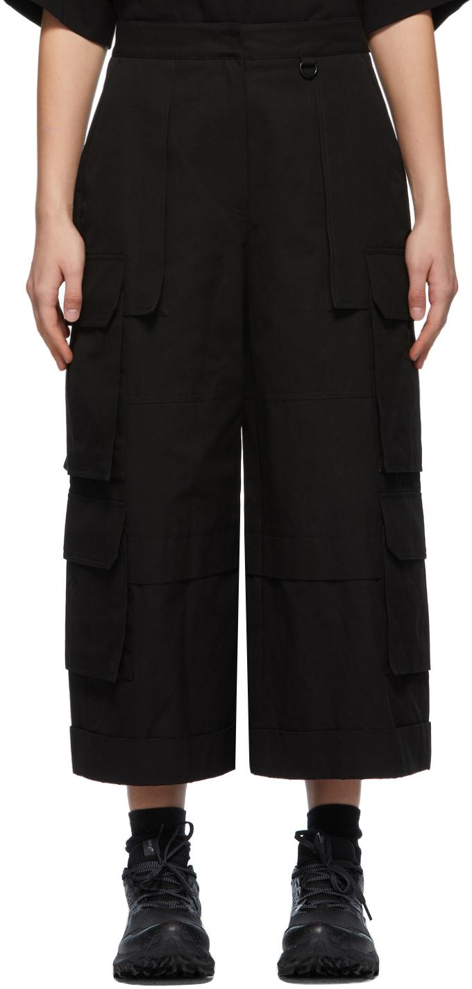 Juun.J 黑色阔腿工装裤