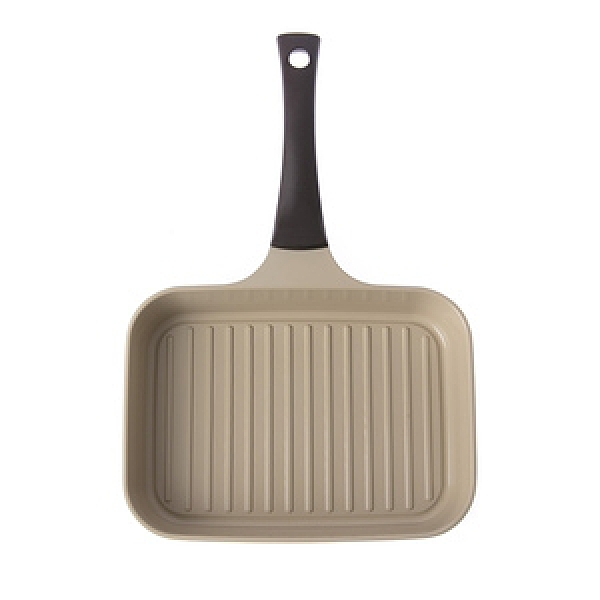 HOLA 陶瓷不沾導磁單柄煎鍋-白