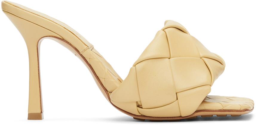 Bottega Veneta 驼色 The Lido Intrecciato 凉鞋
