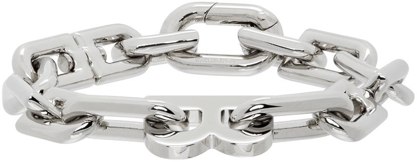 Balenciaga 银色 Thin B Chain 手链