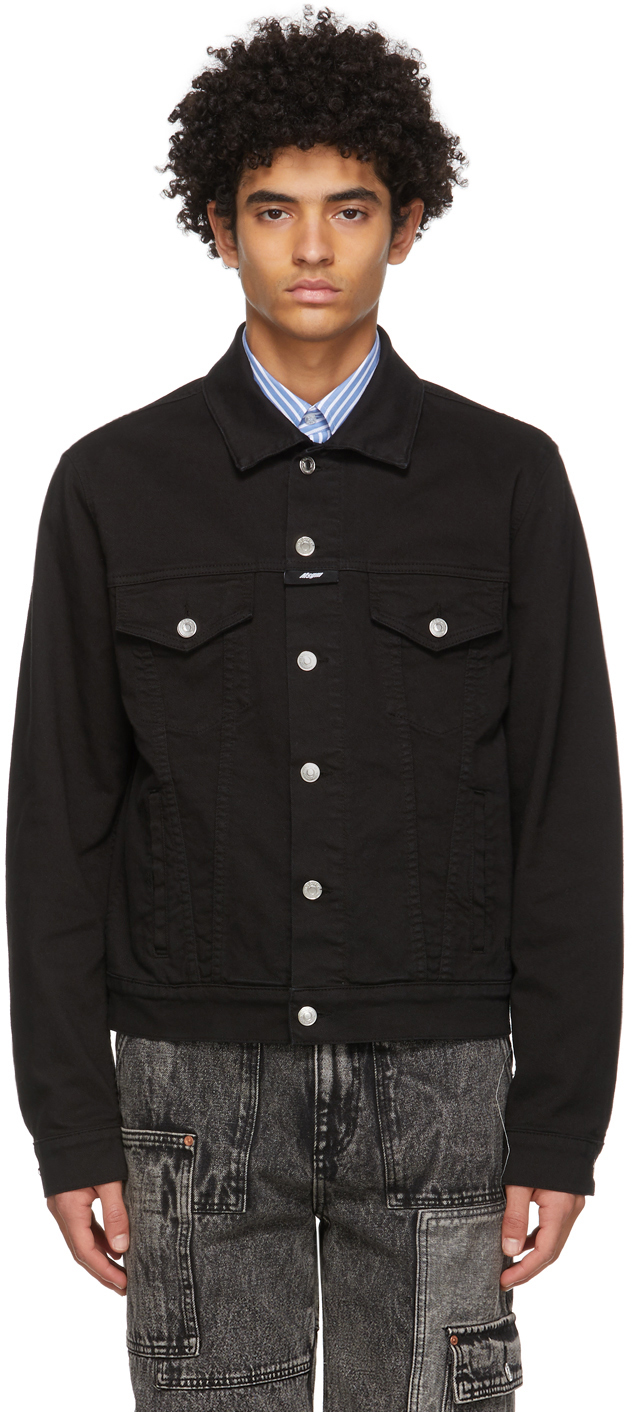 MSGM 黑色牛仔夹克