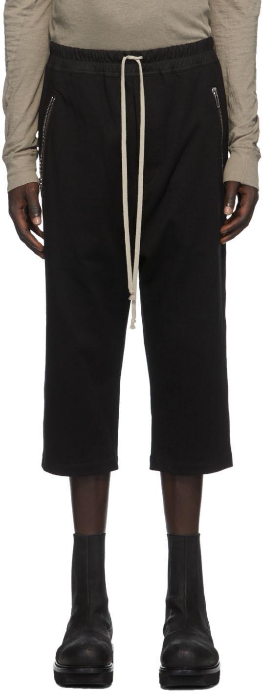 Rick Owens 黑色抽绳长裤