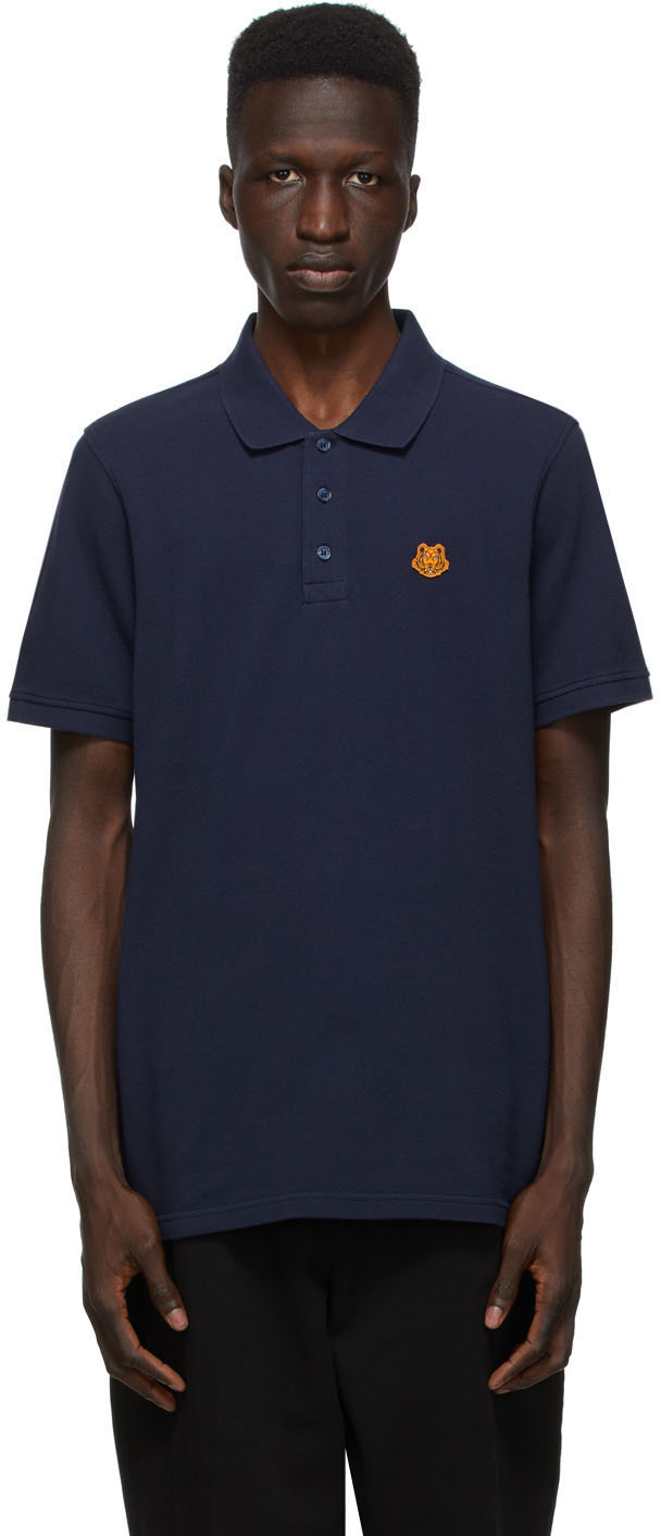 Kenzo 海军蓝 Tiger Crest Polo 衫