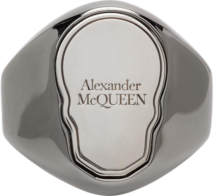 Alexander McQueen 枪色 Skull Tag 戒指