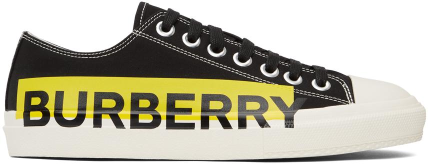 Burberry 黑色 Larkhall 华达呢运动鞋
