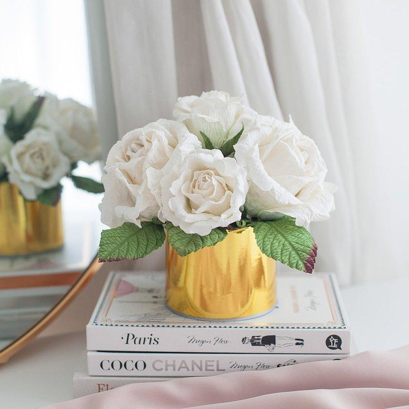 白玫瑰-芳香紙筒盒