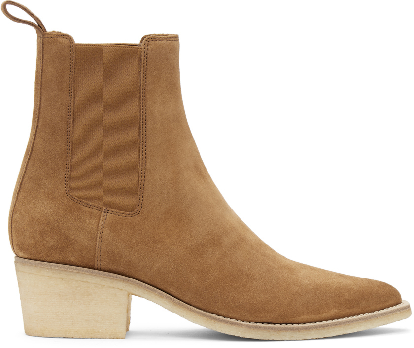 AMIRI 黄褐色绒面革切尔西靴
