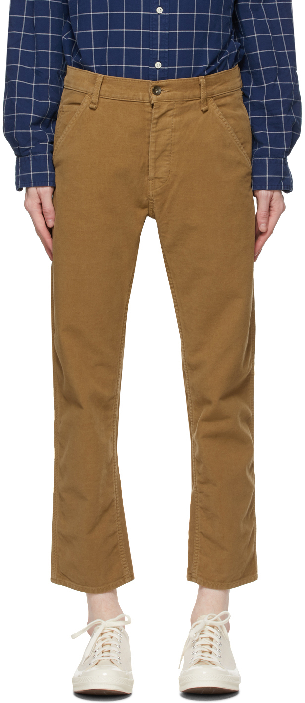 Rag & Bone 黄褐色 Moleskin Workwear 灯芯绒长裤