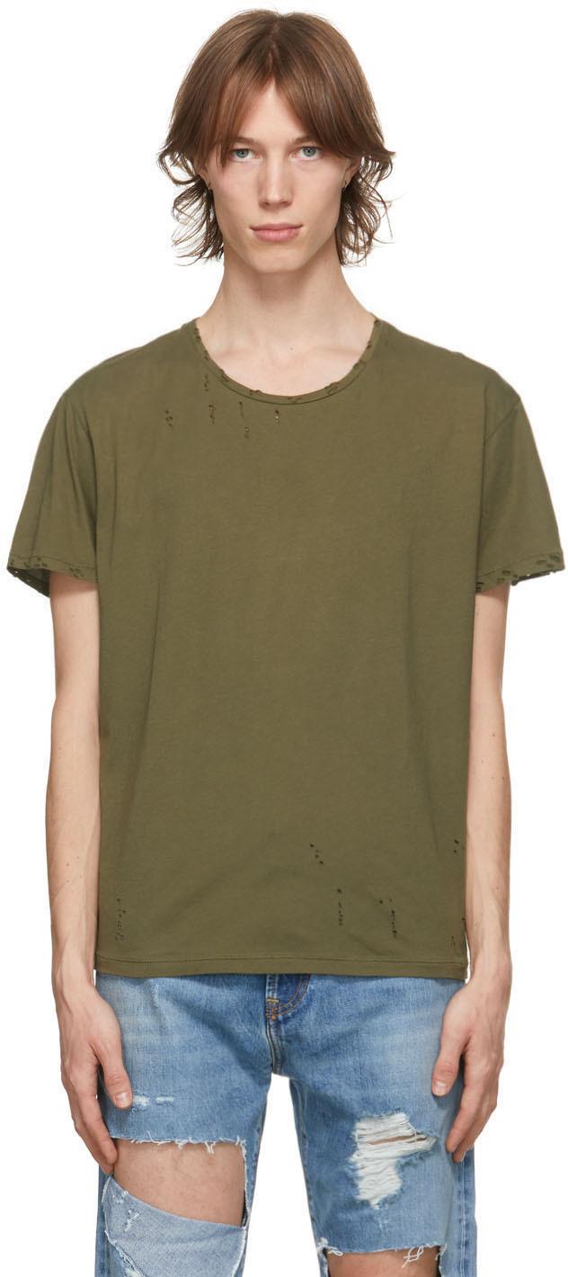 R13 军绿色 Surplus 做旧 T 恤