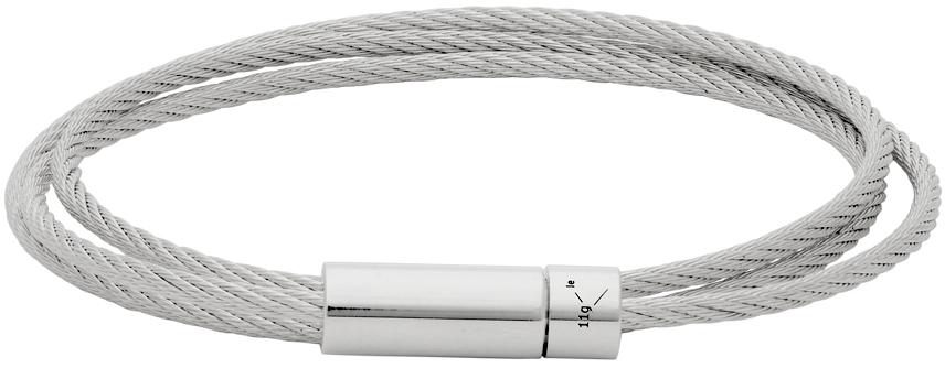Le Gramme 银色 Le 11 Grammes Cable 抛光三圈手环