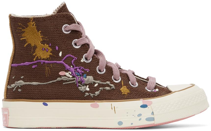 Converse 棕色 Bandulu 联名 Chuck 70 高帮运动鞋