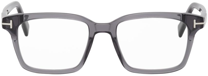 TOM FORD 灰色方框防蓝光眼镜