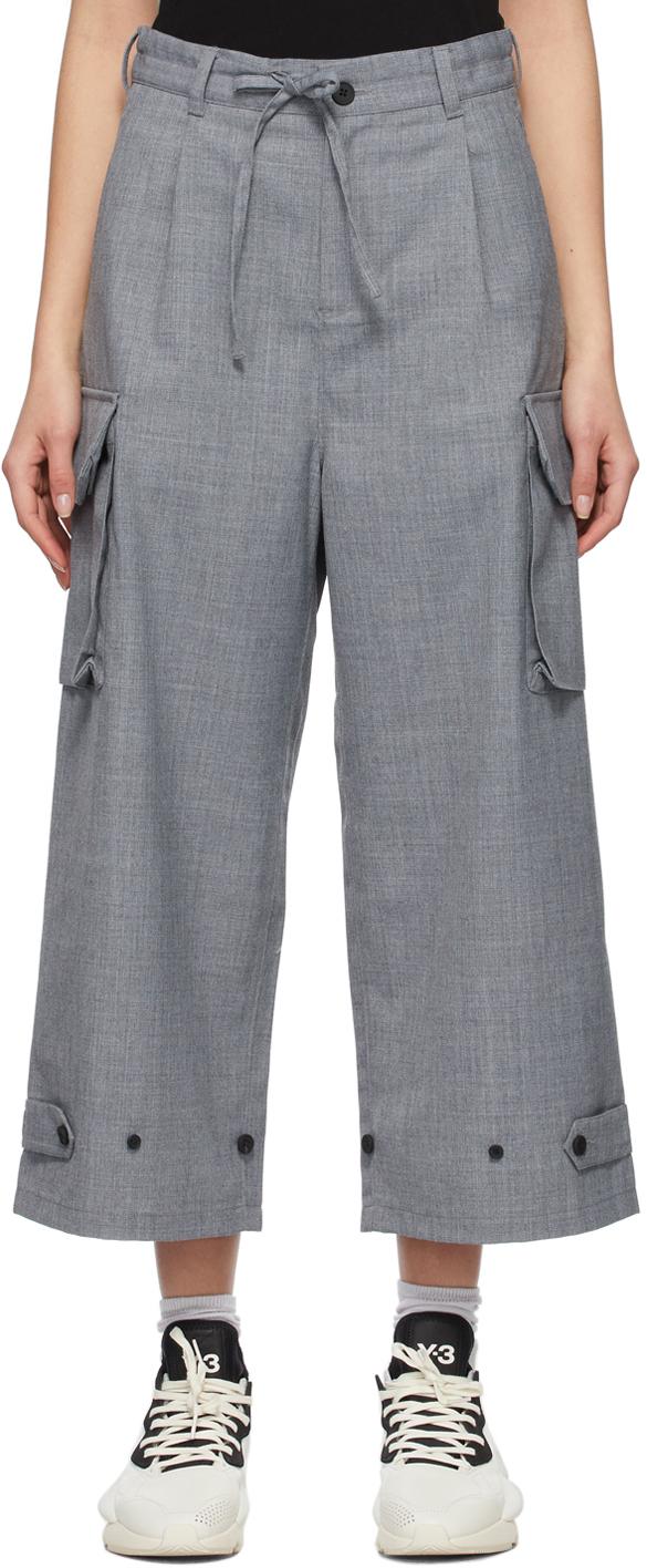 Y-3 灰色 Winter Wool Classic 长裤