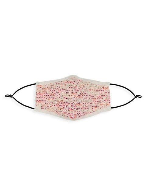Bouclé Tweed Knit Face Mask