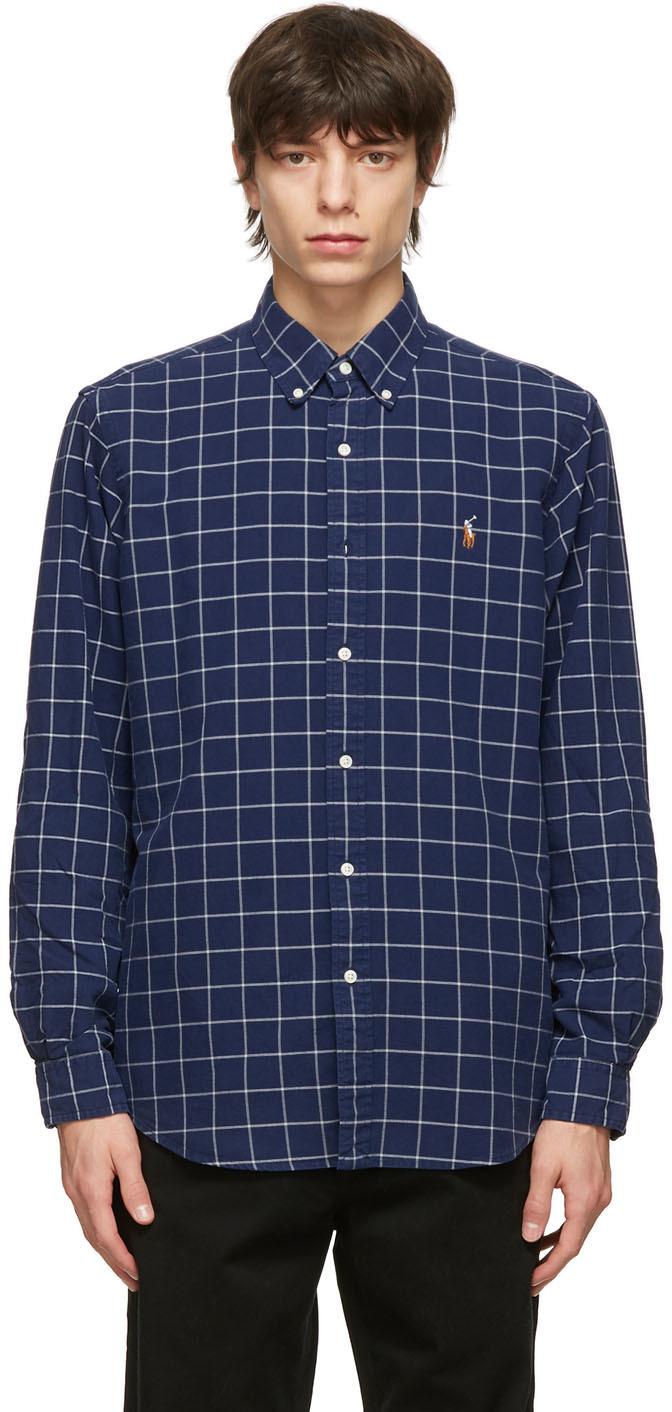 Polo Ralph Lauren 海军蓝 Classic 牛津纺衬衫