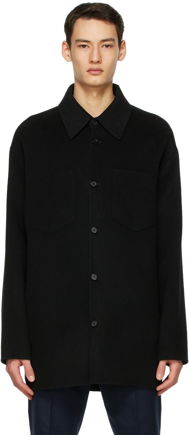 Acne Studios 黑色羊毛衬衫夹克