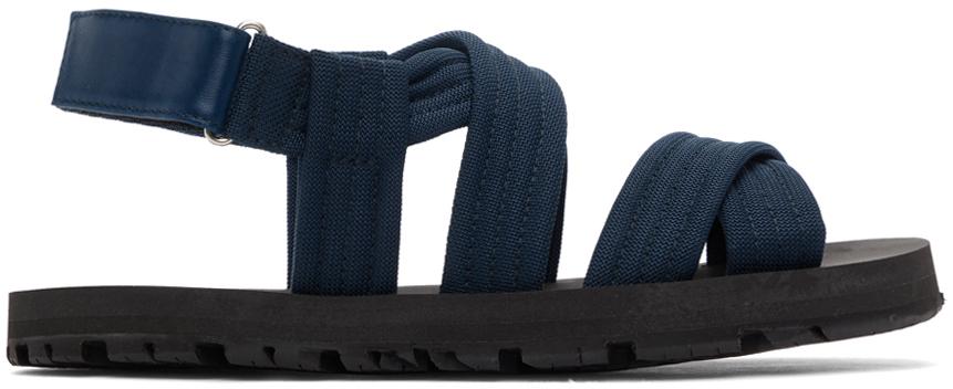Dries Van Noten 蓝色束带凉鞋