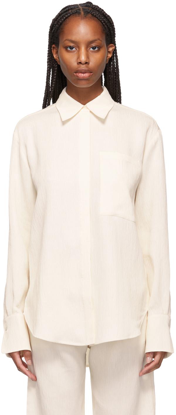 Victoria Victoria Beckham 灰白色大廓形衬衫