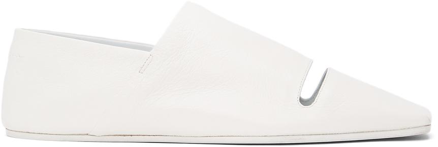 MM6 Maison Margiela 白色镂空拖鞋