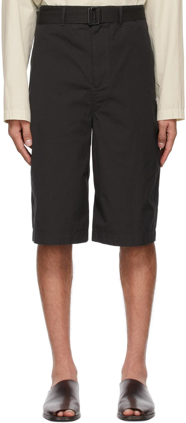 Lemaire 黑色束带短裤