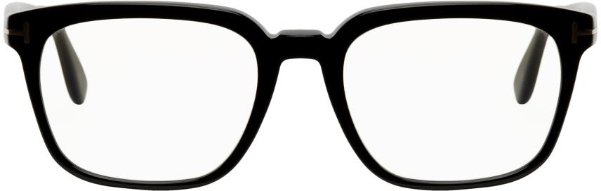 TOM FORD 黑色防蓝光方框眼镜
