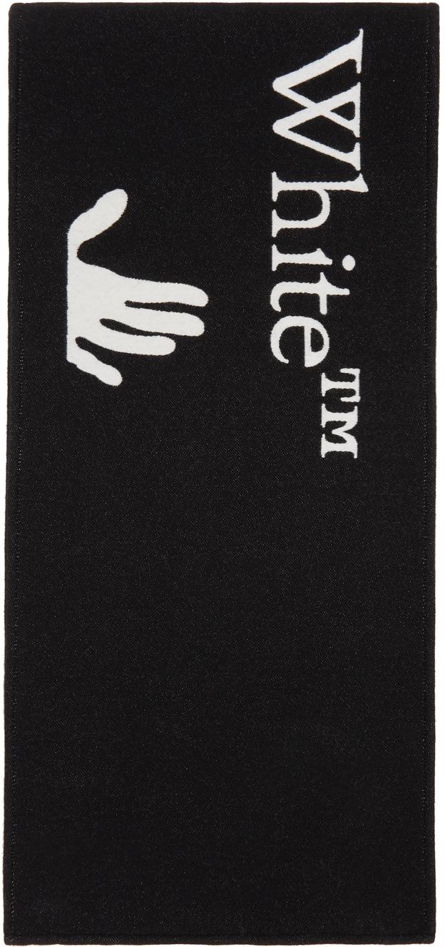 Off-White 黑色徽标围巾