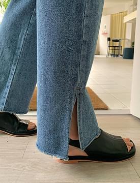 韓國空運 - Urban Slit Date Denim Pants 牛仔褲