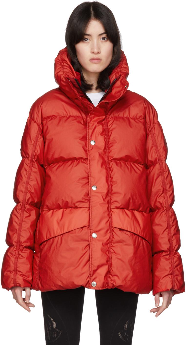 Moncler Genius SSENSE 独家发售红色 6 Moncler 1017 ALYX 9SM 系列 Eris 羽绒夹克