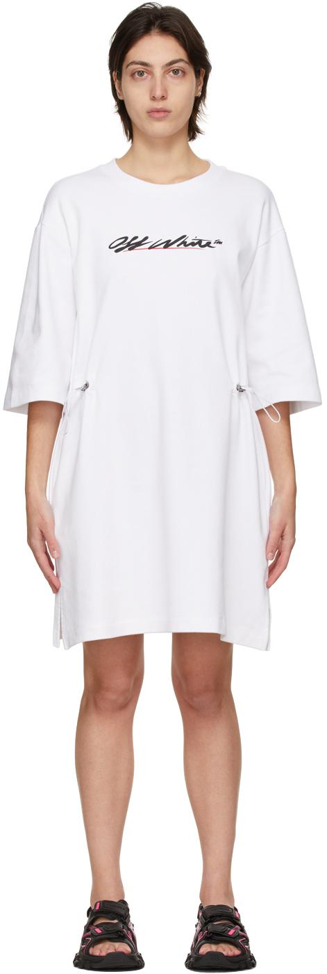Off-White 白色 Coulisse 徽标连衣裙