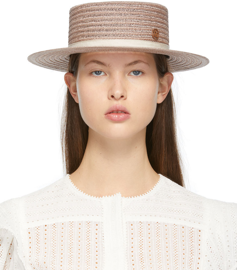 Maison Michel 驼色 Kiki 宽檐帽