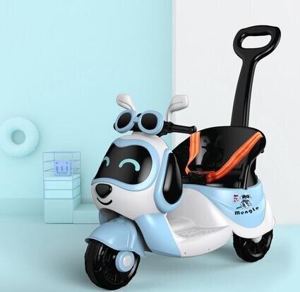 電動車 兒童電動摩托車三輪車男女孩電瓶車小孩可坐人充電遙控玩具車TW