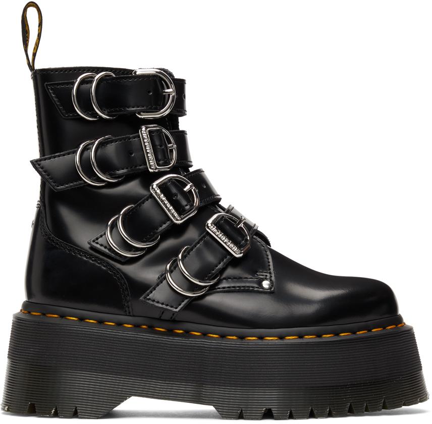 Dr. Martens 黑色 Jadon Max Hardware 踝靴